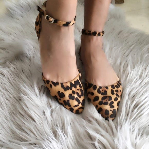 f6ba91cd9114 Bella Marie Shoes | New Ankle Strap Leopard Print Flats | Poshmark